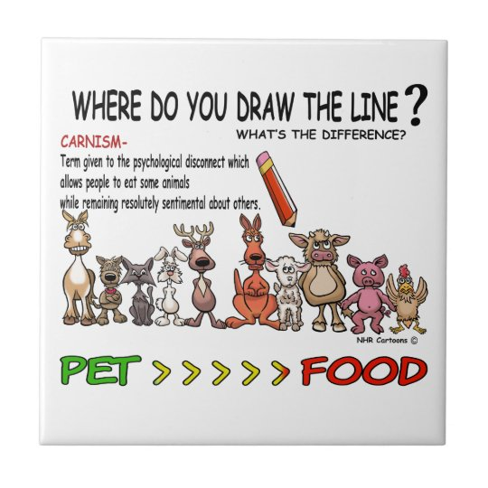 DRAW THE LINE  CARNISM TILE