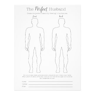Draw the perfect husband game letterhead