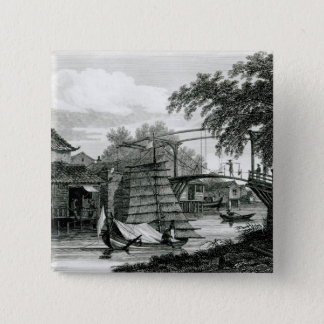 Drawbridge at Malacca, engraved by George Cooke Button
