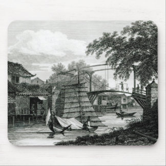 Drawbridge at Malacca, engraved by George Cooke Mouse Pad