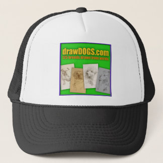 DrawDOGS.com 125 breeds drawn from words Trucker Hat