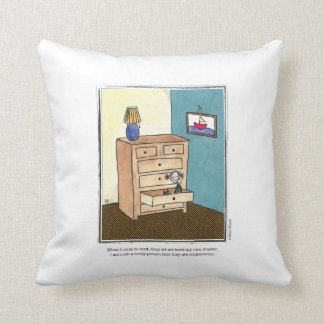DRAWER cartoon by Ellen Elliott Throw Pillow