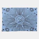 Drawi medieval celestial del sol del vintage y del toalla