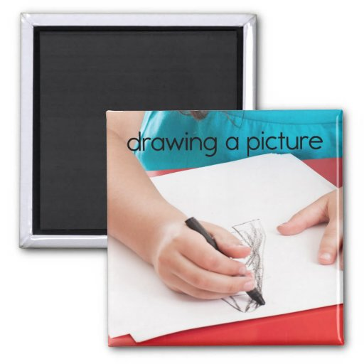 Drawing a Picture Refrigerator Magnet