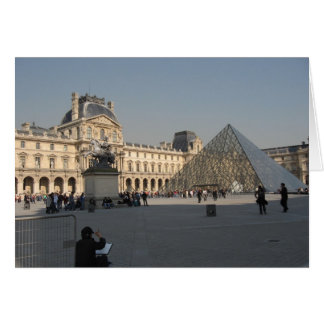 Drawing at The Louvre 2 Card