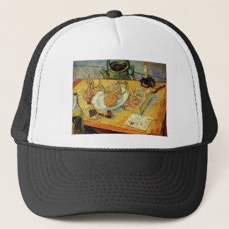 Drawing Board, Pipe, and Sealing-Wax by Van Gogh Trucker Hat