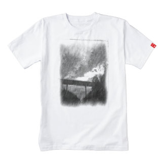 drawing bridge from road zazzle HEART T-Shirt