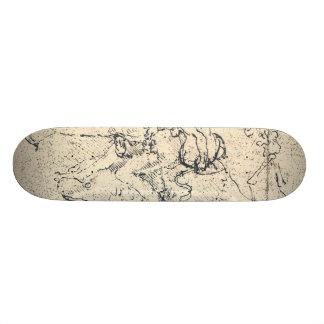 Drawing by Leonardo da Vinci Skateboard Deck