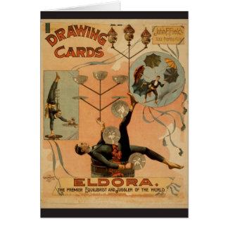 Drawing Cards, 'Eldora', Juggler of the World Greeting Card