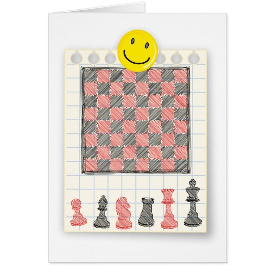 Drawing chessboard card