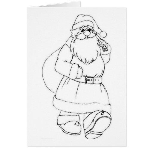 Drawing coloring for Christmas - Felicitacion