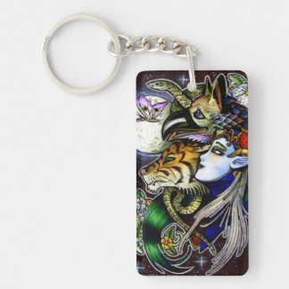 Drawing Down the Moon Acrylic Rectangle Key Chain