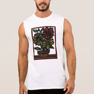 Drawing Flowers Botanical Artwork Sleeveless T-shirt