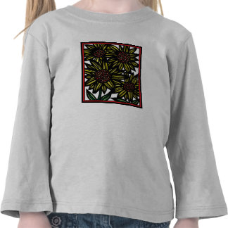 Drawing Flowers Botanical T-shirts