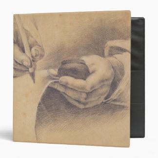 Drawing Hands, 1798 Vinyl Binder