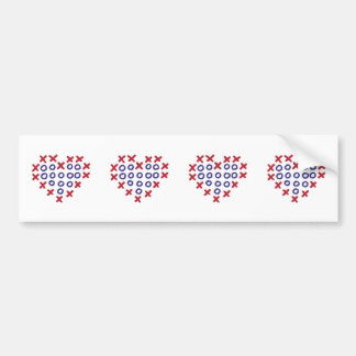 Drawing - Heart with hugs and kisses Car Bumper Sticker