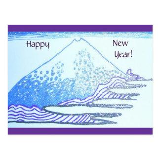 Drawing in Gel Ink, Hokusai Painting Postcard