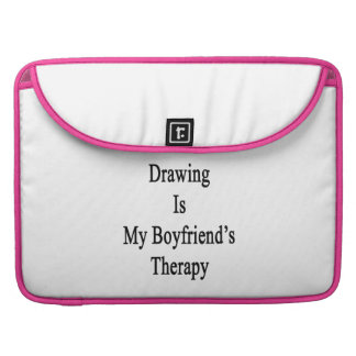 Drawing Is My Boyfriend s Therapy MacBook Pro Sleeves
