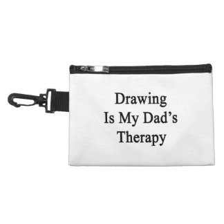 Drawing Is My Dad's Therapy Accessory Bags