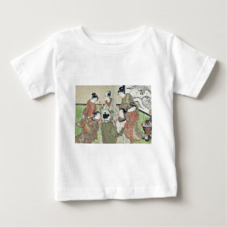 Drawing lots for pairing by Isoda, Koryusai T-shirts