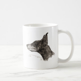 Drawing magnetic cup classic white coffee mug