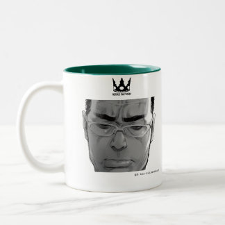 Drawing man Kakuo 02 (black) Two-Tone Coffee Mug