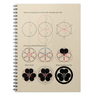 Drawing method of Wood sorrel Spiral Notebook