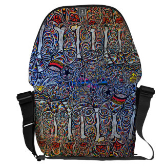 Drawing mural art courier bag