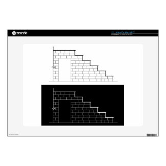 Drawing of a brick stair with stone or marble slab laptop skin