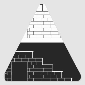 Drawing of a brick stair with stone or marble slab triangle sticker