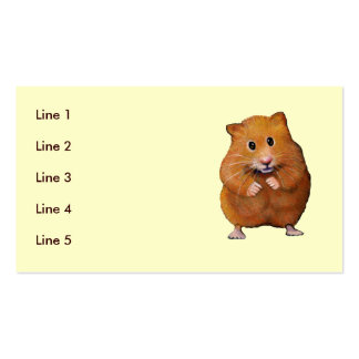 Drawing of a Cute Hamster: BUSINESS CARD