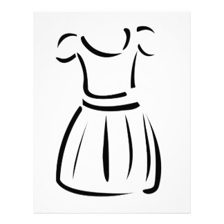 Drawing of a pinafore- apparel letterhead