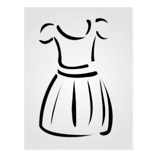 Drawing of a pinafore- apparel postcard