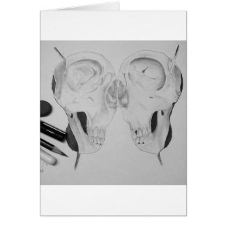 Drawing of a skull by me ;))))) card
