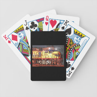 Drawing Of A Train Bicycle Poker Cards
