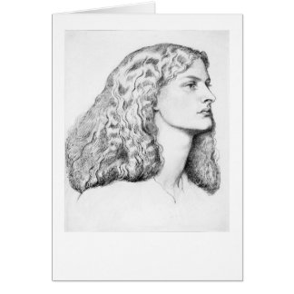 Drawing of a woman card