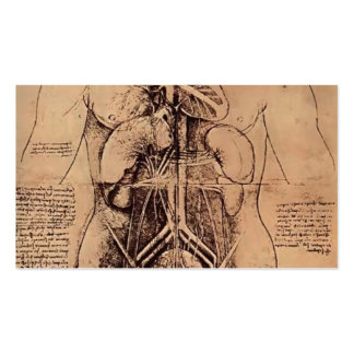 Drawing of a Woman's Torso by Leonardo da Vinci Business Card Template
