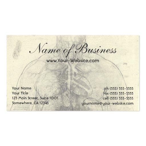 Drawing of a Woman's Torso by Leonardo da Vinci Business Card