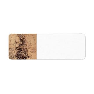 Drawing of a Woman's Torso by Leonardo da Vinci Return Address Label