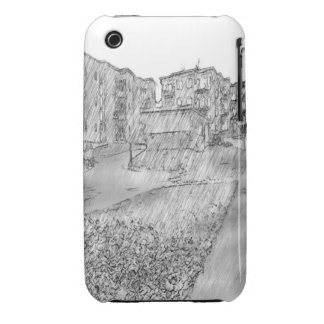 Drawing of apartment Case-Mate iPhone 3 case