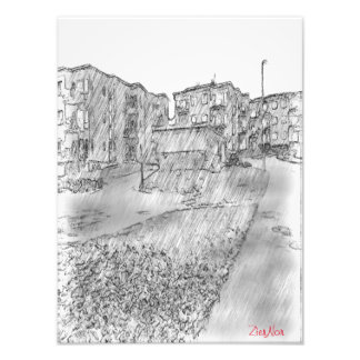 Drawing of apartment photo print