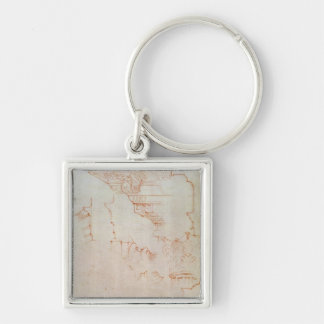 Drawing of architectural details keychain