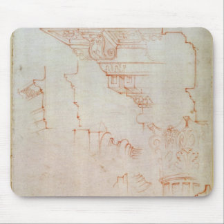 Drawing of architectural details mouse pad