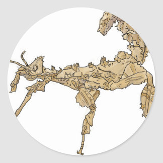 Drawing of Australian Stick Insect Classic Round Sticker