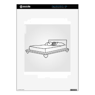 Drawing of bedroom furniture iPad 2 skins