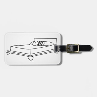 Drawing of bedroom furniture luggage tags