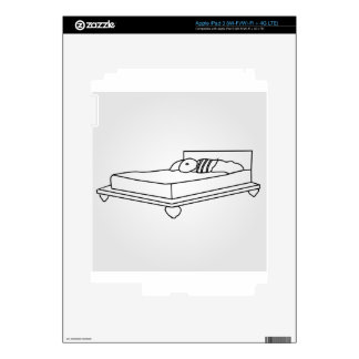 Drawing of bedroom furniture skin for iPad 3