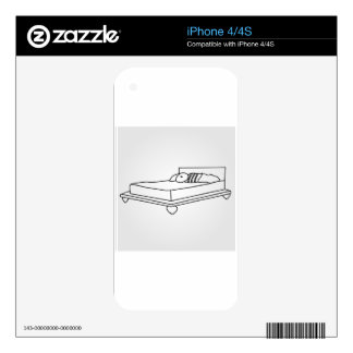 Drawing of bedroom furniture skins for iPhone 4S