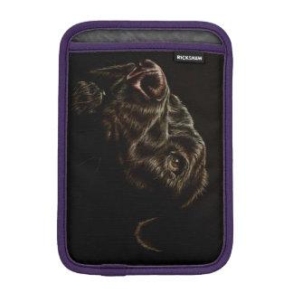 Drawing of Black Dog on iPad Mini Sleeve iPad Mini Sleeves