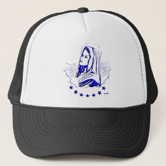Drawing of Blessed Virgin Mary Trucker Hat